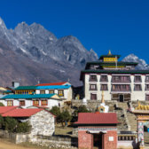 Base camp of Mount Everest in Tengboche.