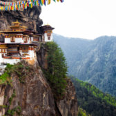 Buddhist Tigernest Monastery in the Himalayas.